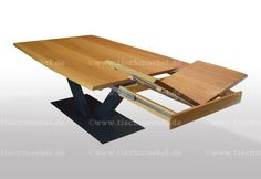 Baumtisch aus Kernbuche massiv von tischmoebel.de Coffee Table Design, Drafting Desk, Furniture, Home Decor, Dining Table Chairs, Wood Slab, Decoration Home, Room Decor, Home Furnishings