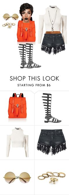 """Untitled #75"" by priscillay5 on Polyvore featuring Proenza Schouler, Stuart Weitzman, MINKPINK, Sans Souci, Retrò and Love Heals"