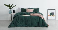 Green Bed Sheets Uk - Go Green Collections Bed Linen Sets, Linen Duvet, Bed Sets, Cotton Bedding, 100 Cotton Duvet Covers, Green Duvet Covers, Green Comforter, Comforter Cover, Zara Home