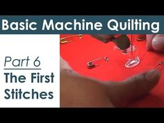 Troubleshooting Tension Problems for Machine Quilting and Free Motion Quilting - YouTube