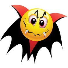 More at Mike Vands 😈 Animated Smiley Faces, Funny Emoji Faces, Emoticon Faces, Funny Emoticons, Halloween Emoji, Halloween Sweets, Halloween Vampire, Halloween Images, Happy Halloween