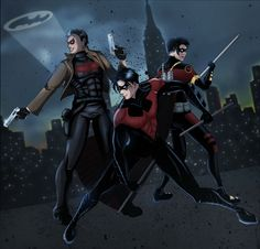 Jason Todd [Red Hood] Dick Grayson {Nightwing} Tim Drake (Red Robin)