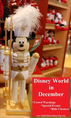 Disney World Tips - Disney World in December: See Ride Closures, Special Events, and Crowd warnings in one easy location - http://www.buildabettermousetrip.com/wdw-december-crowds-closures-special-events/