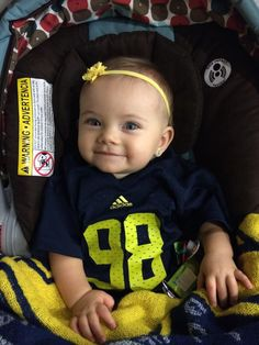 Looking good in her first Michigan Football jersey! 4a38eb6a9b7d