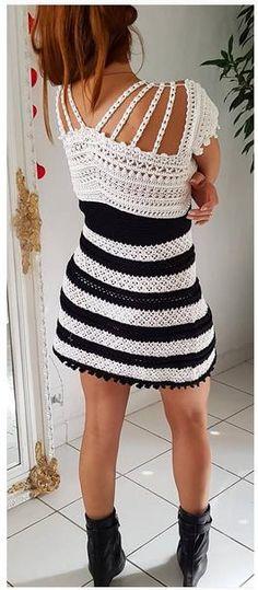 Vanessa Montoro - Black & White Dress
