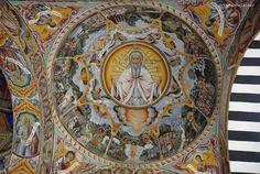 ceiling detail: the baptism of Christ, Rila Monastery, Bulgaria