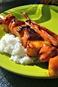Try these sweet and sour pineapple chicken kabobs at your next cook out for something a little different.