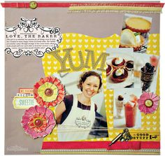 torn flowers - Love, the Baker by Kim Watson from Scrapbooking Tips & Tricks: Texture