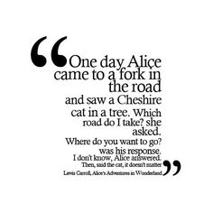 alice's adventures in wonderland by lewis carroll quote made by thimble. found on Polyvore