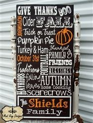 Such a fun Fall sign made by my sweet friend at MadiKay Designs