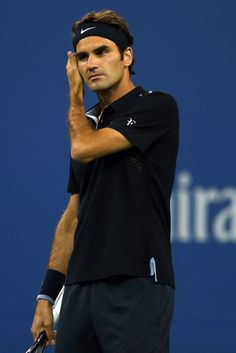 Roger Federer Photos: US Open: Day 5
