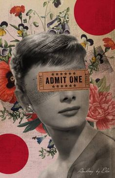"*-*Saatchi Art Artist Elo Marc; Collage, ""Public Figures -- Audrey by Elo"" #art"