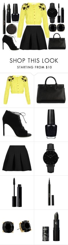 """""""Sunday dinner"""" by j-n-a ❤ liked on Polyvore featuring Oscar de la Renta, Yves Saint Laurent, OPI, T By Alexander Wang, CLUSE, Illamasqua, Guerlain, Kate Spade and Lipstick Queen"""