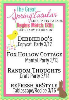 Starting 3/12/2012  thru 3/15/2012 The Great Spring'tacular Link Party Parade!