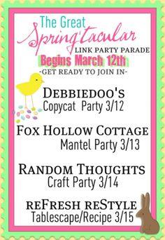 Starting 3/12/2012  thru 3/15/2012 The Great Spring'tacular Link Party Parade!