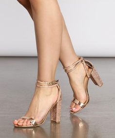 Lace High Heels, Ankle Strap Heels, Womens High Heels, Rose Gold Heels, Gold Open Toe Heels, Gold High Heel Sandals, Gold Block Heels, Sparkle Heels, Clear Heels