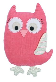 Owl Pink Softie - Rattle - Tiger Tribe $19.95