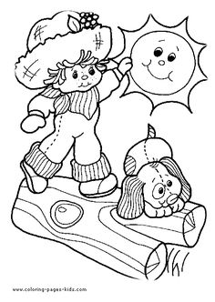 Strawberry Shortcake Color Page Cartoon Characters Coloring Pages For Kids Thousands Of Free Printable