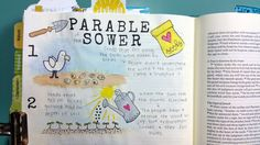 The Parable of the Sower Bible Journaling by Amber Horn.