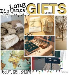"""long distance gift ideas"". read later, I'll have some long distance times to push through this upcoming year, this may make it a littttle more fun. ;)"