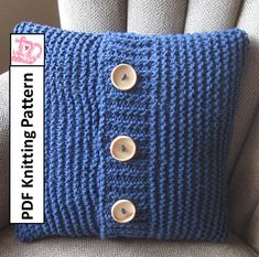 super simple in 6 sizes pillow cover knitting pattern by 495 great gift