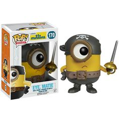 Gru's adorable Minions from the Despicable Me series have done the unthinkable! That infectious cuteness earned the little guys their very own Minions movie. This stylized Minions Movie Eye Matie Pop! Vinyl Figure stands approximately 3 tall Funko Pop Toys, Funko Pop Figures, Pop Vinyl Figures, Pirate Minion, Pop Minion, Minions Eyes, Minion Characters, Pop Characters, Minion Movie