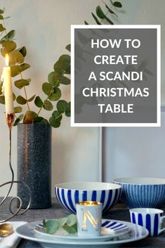 Looking for something stylish, on-trend and sophisticated or your Christmas table look this holiday? Check out these ideas on how to create a Scandinavian christmas table setting with a little twist. Top tips are to keep it simple and uncluttered, great i
