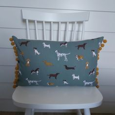 Sophie Allport Fetch Cushion with Mustard Pom poms £15.80