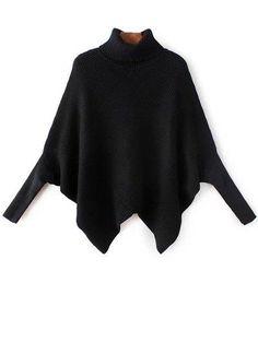 Hem pañuelo del cuello alto del suéter del Batwing