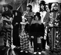 JOHN LENNON, YOKO ONO, KEITH RICHARD, MICK JAGGER and BRIAN JONES Rock'n Roll Circus, 1968