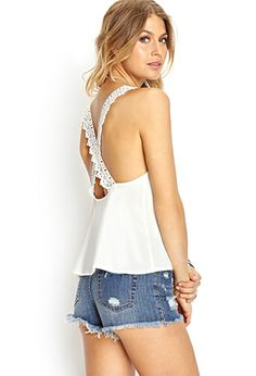 Crossback Lace Cami | FOREVER21 - 2000124494