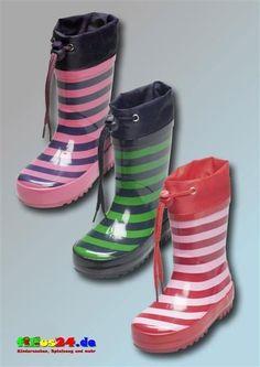 Playshoes Gummistiefel Streifen Kinderstiefel Regenstiefel