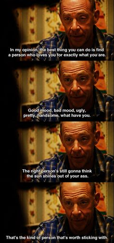 """The right person's still gonna think the sun shines our of your ass"" Juno (2007) Movie Quotes #juno2007 #moviequotes"
