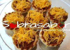Tartaletas de sobrasada vegetal Sobrasabor y huevo hilado, deliciosas!!