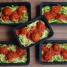 Double tap for turkey meatballs over zoodles  This delicious combination is perfect for dinner or lunch  Full instructions on how to…