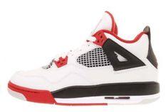 Youth Nike Air Jordan 4 Retro (GS) Edition White / Black / Varsity Red 408452-110