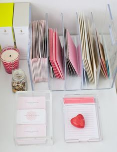 Office Organization: Letter organizer keeps papers, files, and envelopes in order.