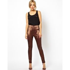 ASOS High Waisted Tube Pants in Luxe Fabric