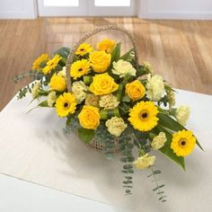 a GOLDEN basket of flowers - Google Search