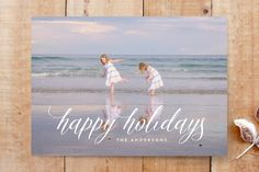 holidays lettering Custom Stationery by Phrosne Ra. Holidays And Events, Happy Holidays, Christmas Holidays, Custom Stationery, Christmas Photo Cards, Merry And Bright, Independence Day, Your Cards, Cheers