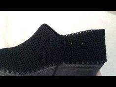 Tejido de zapato a crochet video 4 por Myriam Mora - YouTube