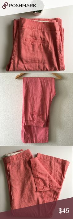 Boden Linen Cotton Pants size 10L Boden linen blend pants. Great condition.                                Approximate measurements Inseam - 32 in Waist - 16 in Front Rise - 10 in Back Rise - 16 in Boden Pants Trousers