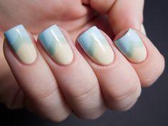 Subtle Spring Fishtail - Zoya Lovely Nail Art | Chalkboard Nails | Nail Art Blog