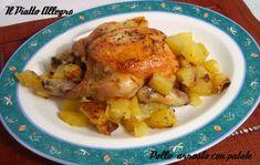 pollo arrosto con patate Pasta E Fagioli, Linguine, Meat, Chicken, Food, Meal, Eten, Meals, Buffalo Chicken