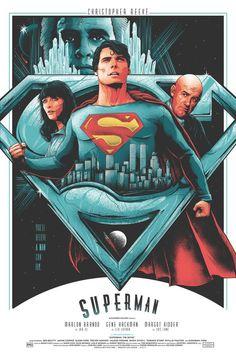 Superman by Matt Ryan Tobin - Home of the Alternative Movie Poster -AMP- Superman Movies, Superman Art, Superman Family, Superman Man Of Steel, Superhero Movies, Batman, Superman Poster, Christopher Reeve Superman, Action Comics 1