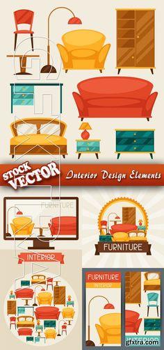 Stock Vector - Interior Design Elements