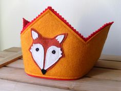 Little Fox Crown Waldorf Inspired Dress Up by LittleRootStudios
