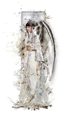 """Calling All Angels! - Fuyu"" by girlinthebigbox ❤ liked on Polyvore featuring art, Winter, angel, asian and japanese"