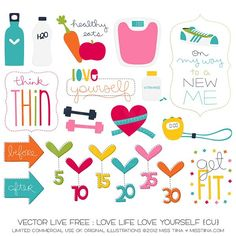 Even more Life Free : Love Life + free printable garland! | MissTiina.com {Blog}