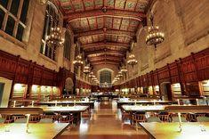 La bibliothèque de l'université de droit du Michigan, Etats-Unis © Creative commons